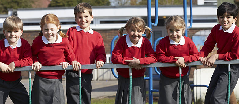 Pupils in the playground